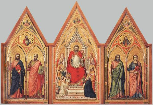 The Stefaneschi Triptych (verso) c. 1330. Tempera on panel, 220 x 245 cm. Pinacoteca, Vatican