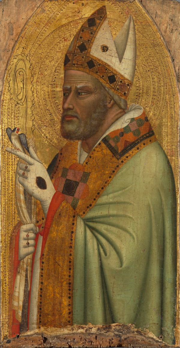 Bernardo Daddi Holy Bishop with a Goldfinch, ca.1335/40 Alte Pinakothek, Inv. 10828