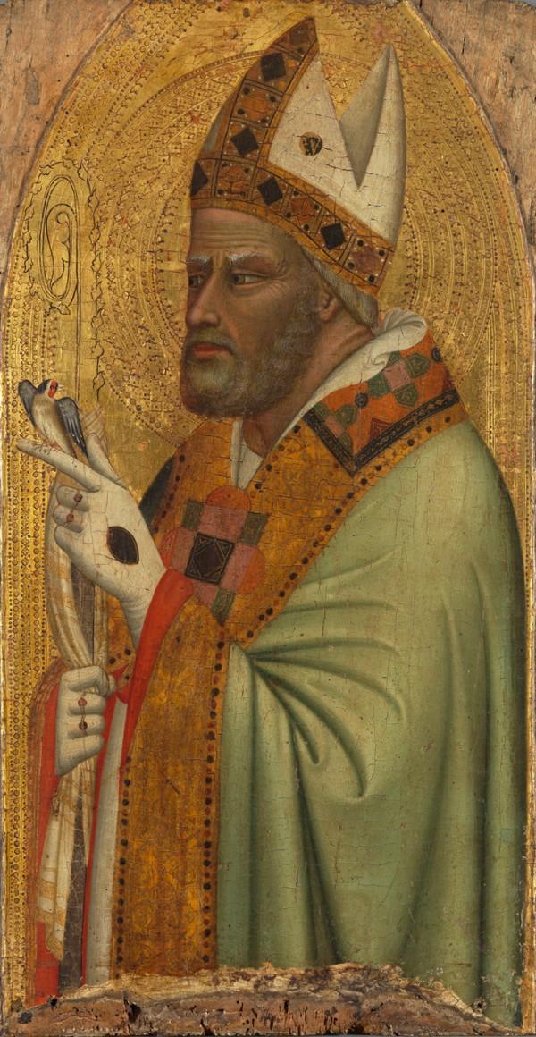 Bernardo Daddi Holy Bishop with a Goldfinch, ca.1335/40 Alte Pinakothek, Inv. 10828
