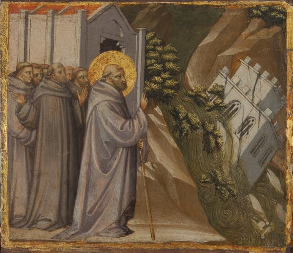 BICCI LORENZO (Florence, ca. 1368 - 1452) MIRACLE OF ST JOHN GUALBERTO tempera on panel, 27.5 x 31 cm Click on image to enlarge.