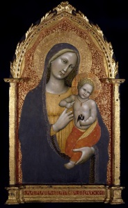 MASTER OF THE STRAUS MADONNA Florentine, late 14th century - early 15th century Virgin and Child c. 1395–1400 Tempera and gold leaf on wood 35 x 19 inches The Museum of Fine Arts, Houston The Edith A. and Percy S. Straus Collection