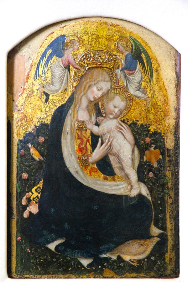 """Madonna of the Quail"" by Pisanello"