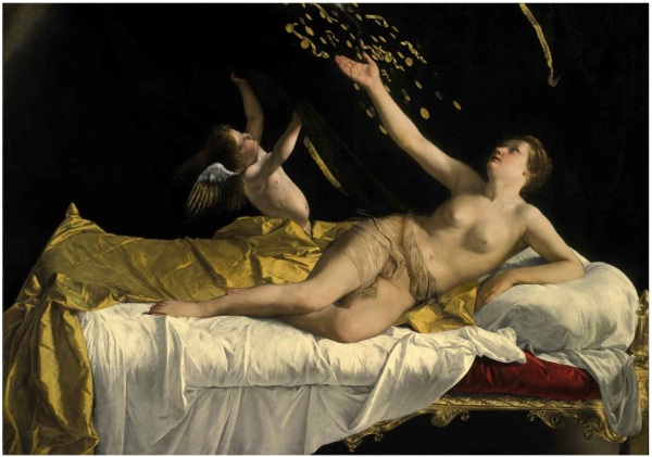 Lot 41. ORAZIO GENTILESCHI PISA 1563 - 1639 LONDON DANAË oil on canvas 63 ½ by 89 ¼ in.; 161.3 by 226.7 cm. Estimate: $25-35 million. This lot sold for a hammer price of $ ($ with fees). Click on image to enlarge.