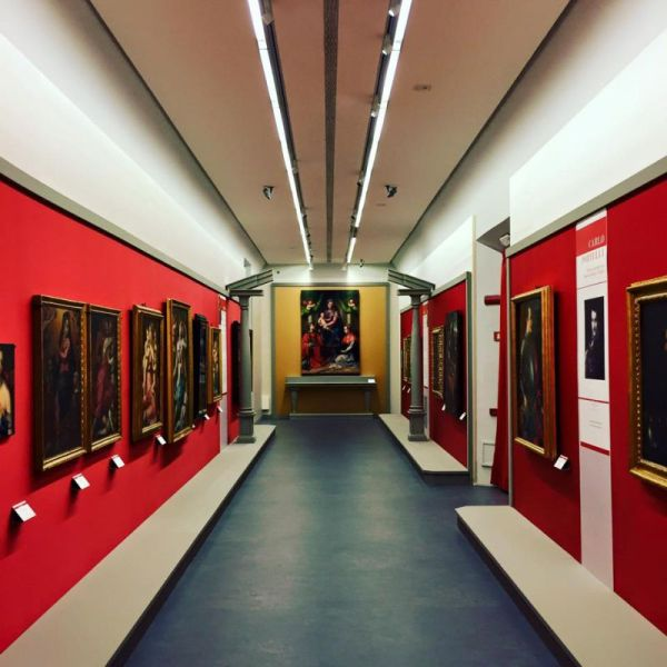 """Carlo Portelli: Eccentric Painter between Rosso Fiorentino and Vasari"" installation shot."