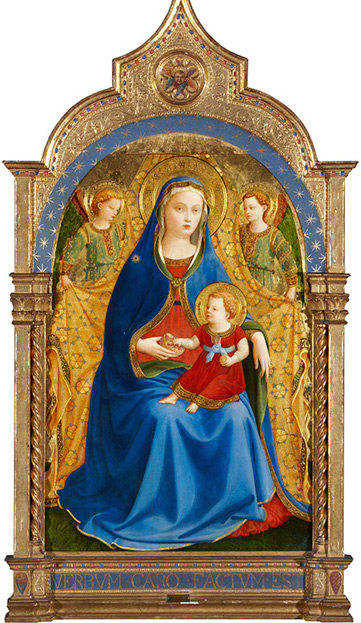 The Virgin and Child with two Angels or The Virgin of the Pomegranate, Guido di Pietro, known as Fra Angelico