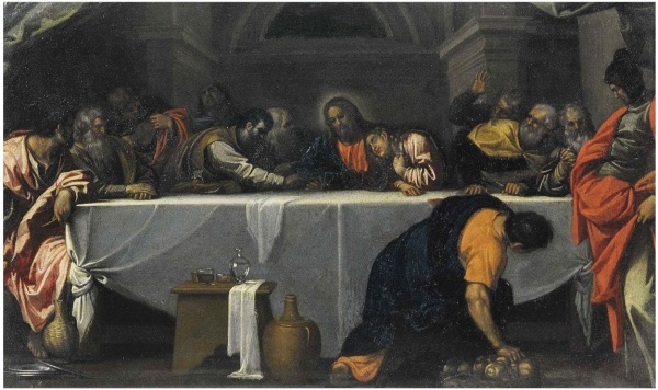 Agostino Carracci, The Last Supper, Pinacoteca, Ferrara Click on image to enlarge.