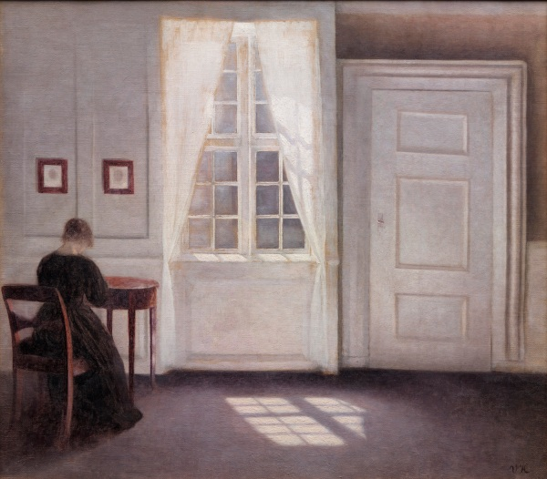 Vilhelm Hammershøi Interior in Strandgade, Sunlight on the Floor 1901 Oil on canvas 46.5 x 52 cm National Gallery of Denmark Click on image to enlarge.