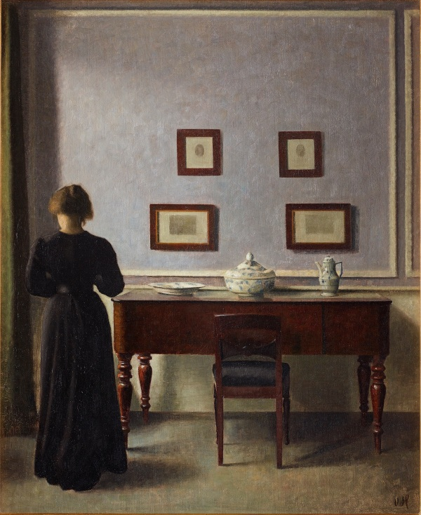 Vilhelm Hammershøi Interior with Four Etchings 1905 Oil on canvas 62.0 x 51.2 cm Art Gallery of Ontario Purchased with the assistance of a Moveable Cultural Property grant accorded by the Department of Canadian Heritage under the terms of the Cultural Property Export and Import Act, 2015