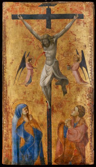 Paolo di Dono, called Paolo Uccello (Florence, 1397 – 1475), The Crucifixion Tempera and gold on panel: 23 5/8 x 13 3/8 inches (60 x 34 cm.) Painted circa 1423