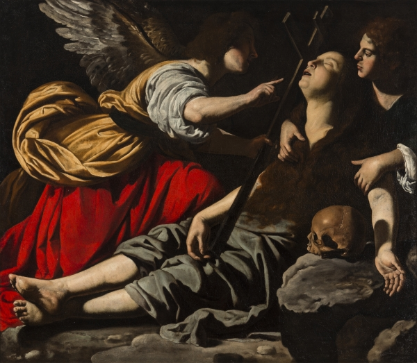 RUTILIO MANETTI (SIENA C. 1571 – SIENA / ROME – 1639 SIENA) The Death of the Magdalene oil on canvas 54 5/16 x 62 3/16 in. (138 x 158 cm.) Courtesy of Click on image to enlarge.