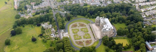 Bowes Museum, aerial view. Click on image to enlarge.