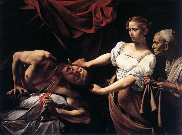 Caravaggio, Judith Beheading Holofernes, 1598-99, Palazzo Barberini.