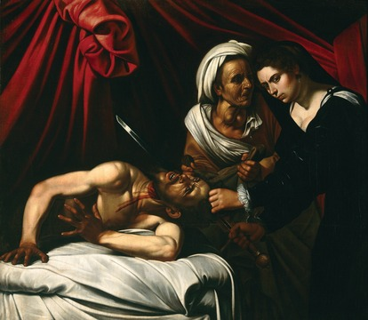 Louis Finson's copy of Caravaggio's lost original, Judith Beheading Holofernes (around 1607), from the Intesa Sanpaolo bank collection (Image: Luciano Pedicini / courtesy of the Pinacoteca di Brera) The disputed Caravaggio: Judith Beheading Holofernes (1606-07), currently in the guardianship of the French ministry of culture (Image: courtesy of the Pinacoteca di Brera)