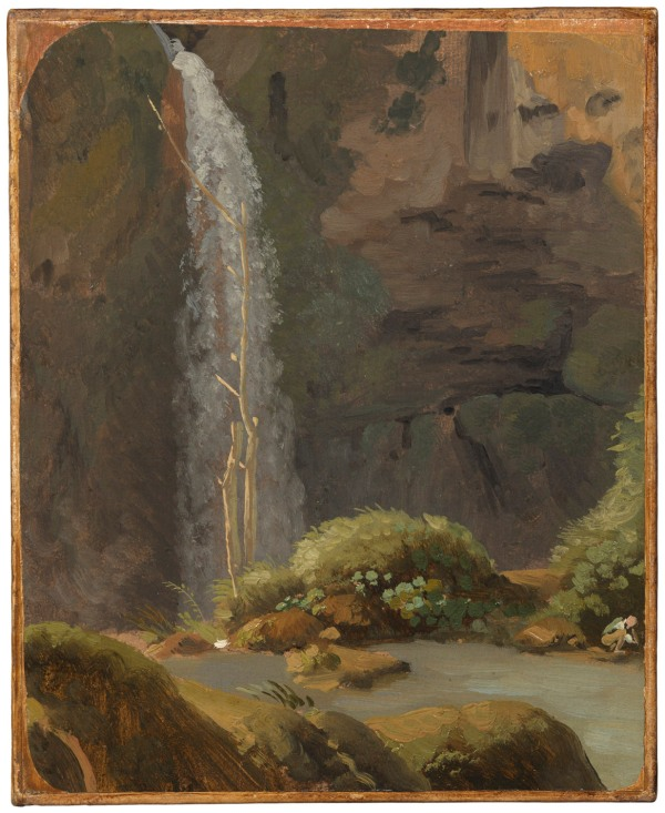Simon Denis (Antwerp 1755-1812 Naples) The Waterfall in Neptune's Grotto at Tivoli, c 1790 Oil on paper: 9 ¾ x 7 7/8 in. Click on image to enlarge