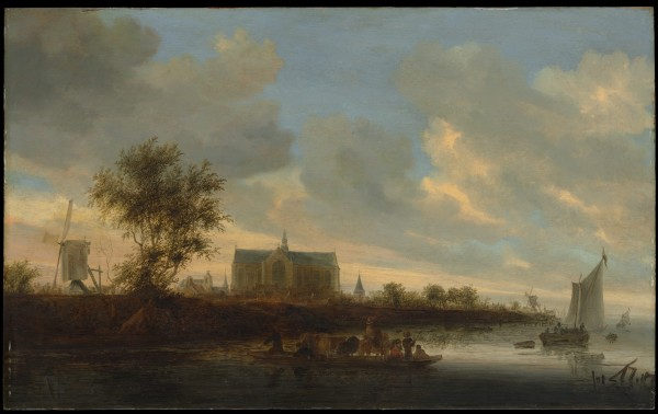 Salomon van Ruysdael (Dutch, Naarden, born ca. 1600–1603, died 1670 Haarlem) View of the Town of Alkmaar Oil on panel: 20 1/4 x 33 in. (51.4 x 83.8 cm) Click on image to enlarge.